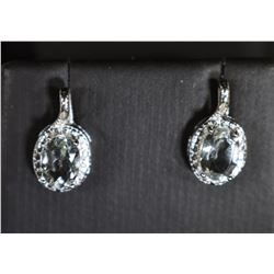 GREEN AMETHYST AND DIAMOND EARRINGS