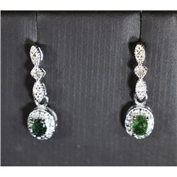VINTAGE STYLE EMERALD AND DIAMOND MILGRAIN