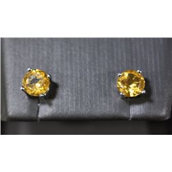 6mm CITRINE STUD EARRINGS IN