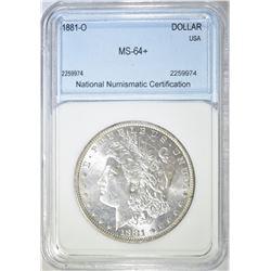1881-O MORGAN DOLLAR  NNC CH BU+