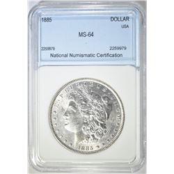 1885 MORGAN DOLLAR  NNC CH BU
