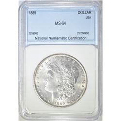 1889 MORGAN DOLLAR  NNC CH BU