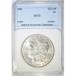 1890 MORGAN DOLLAR  NNC CH UNC