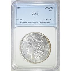1904 MORGAN DOLLAR  NNC GEM BU