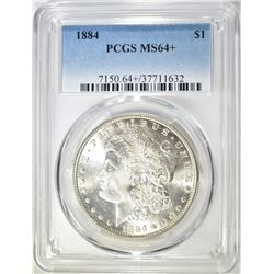 1884 MORGAN DOLLAR  PCGS MS-64+