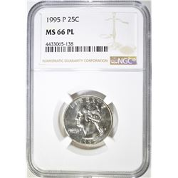 1995-P WASHINGTON QUARTER NGC MS-66 PL