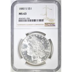 1880-S MORGAN DOLLAR   NGC MS-63