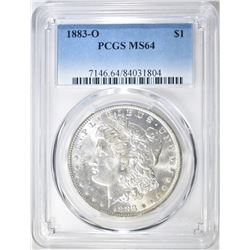 1883-O MORGAN DOLLAR   PCGS MS-64