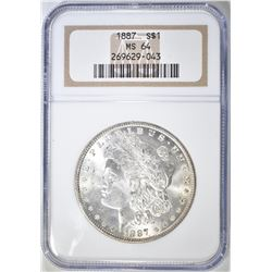 1887 MORGAN DOLLAR  NGC MS-64