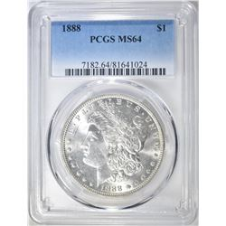 1888 MORGAN DOLLAR  PCGS MS-64
