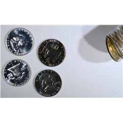 19-1961 & 1-62 PROOF FRANKLIN HALF DOLLARS