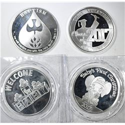 ONE OUNCE .999 SILVER SPECIALTY ROUNDS, PAST YEARS