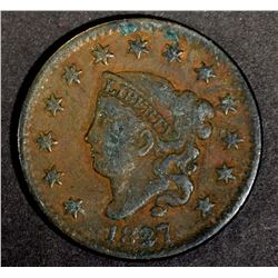 1827 LARGE CENT, BETTER DATE