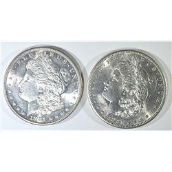 2-CH BU 1981-S MORGAN DOLLARS