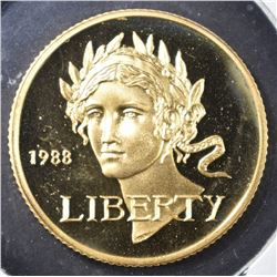 1988 OLYMPIC $5.00 GOLD PROOF COMMEM COIN ONLY