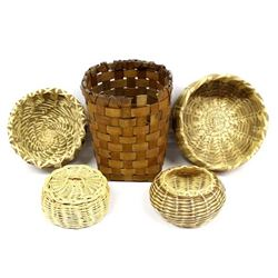 5 Native American Baskets