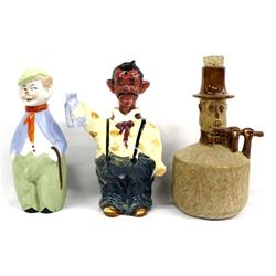 3 Vintage Character Decanters