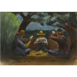 Original Navajo Pastel Picture by Ted Draper, Jr.