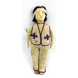 Vintage 1933 Native American Spokane Leather Doll