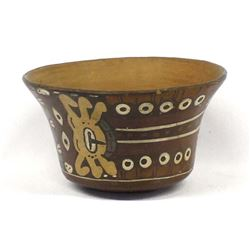 Vintage South American Pottery Bowl