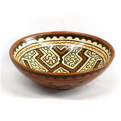 South American Peruvian Shipibo Pottery Bowl