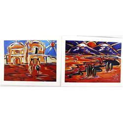 Pair of 2004 Jan Oliver-Schultz Prints