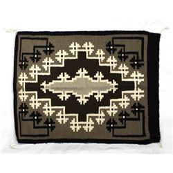 Native American Navajo Storm Pattern Wool Rug