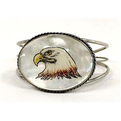 Southwestern Mother of Pearl Eagle Bracelet
