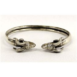 Sterling Silver Ram's Head Bracelet