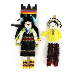 Pair of Native American Zuni Beaded Dolls