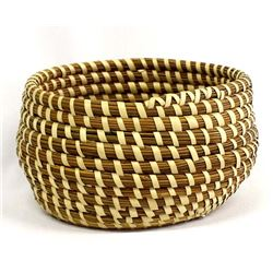 Native American Tohono O'odham Coiled Basket