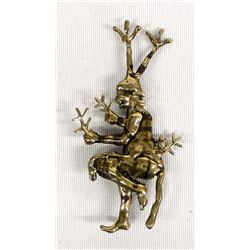 Jemez Pueblo Brass Koshare Clown Pin, K. Johnson