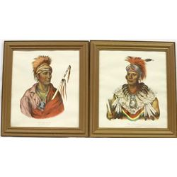 Pair of Vintage Native American Chief Prints