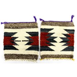 2 Small Navajo Wool Textile Rugs