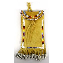 Native American Beaded Leather Possibles Bag