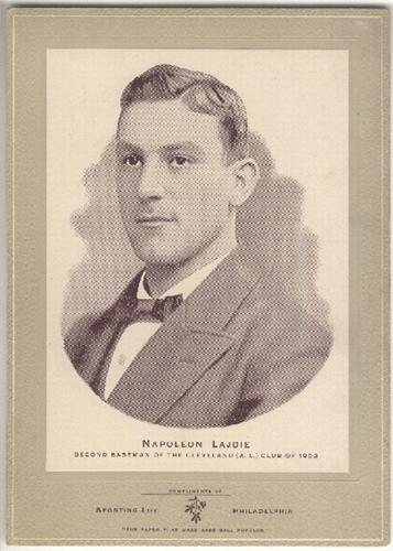Nap Lajoie 1902 W600 Cabinet Photo Baseball Card