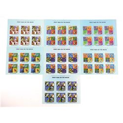 Lot of 7 Stamps - Apollo XI