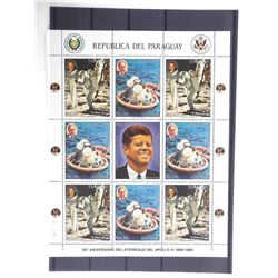 Lot of 9 Stamps - Apollo XI