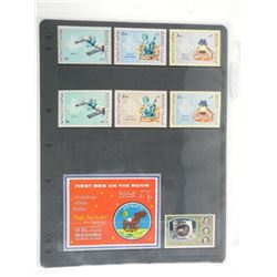 Lot of 8 Stamps - Fujeira, Manama, First Men on the Moon.