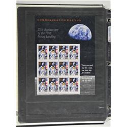 Lot of 12 Stamps - 25th Anniversary of the First Moon Landing.