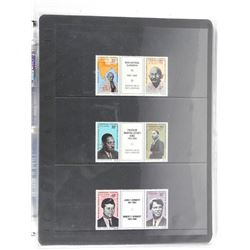 Lot of Stamps - Gandhi, Martin Luther King, John F. Kennedy.
