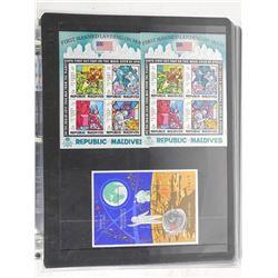 Lot of 9 Stamps - Maldives & Mongolia.