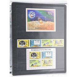 Lot of 9 Stamps - Barbuda & Barbados.