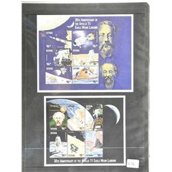 Lot of Stamps - 30th Anniversary of The Apollo 11 Eagle Moon Landing.