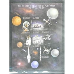 Lot of Stamps - The History of Space Exploration 1609-2000.