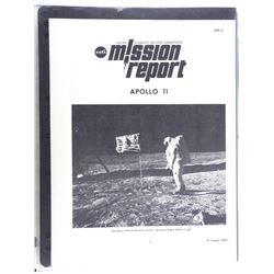 """8x10"""" Picture Mission Report Apollo 11."""