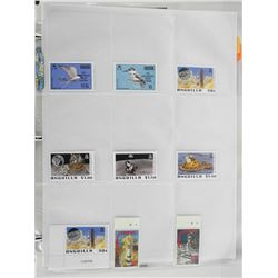 Lot of 9 Stamps - Anguilla.