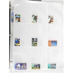 Lot of 9 Stamps - Nauru, Nicaragua, Nevis.