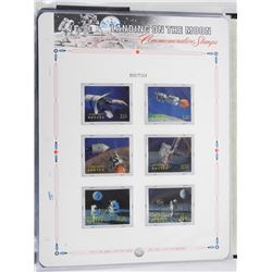 Lot of 6 Stamps - Landing on the Moon.