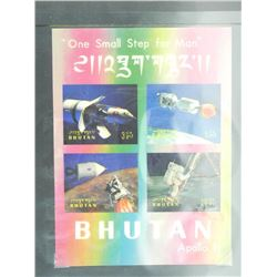 Apollo Collectible - One Small Step for Man Bhutan.